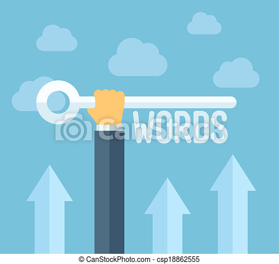 seo, keywords, conceito, ilustração, apartamento - csp18862555