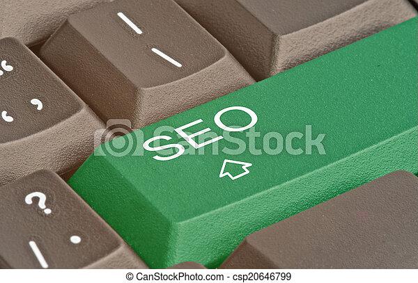Teclado con llave para SEO - csp20646799