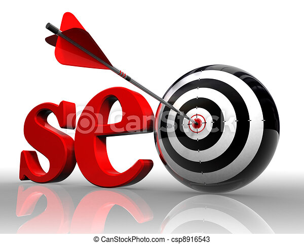 seo red word and conceptual target - csp8916543