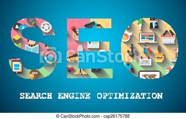 SEO Search engine optimization concept - csp26175788