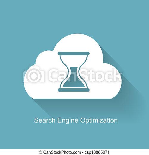 SEO - Search Engine Optimization Flat Icon Vector Illustration - csp18885071