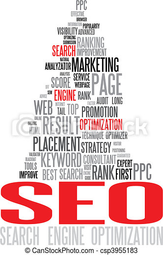 SEO - Search Engine Optimization poster - csp3955183