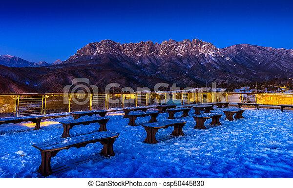 Seoraksan mountains in winter, South Korea. - csp50445830