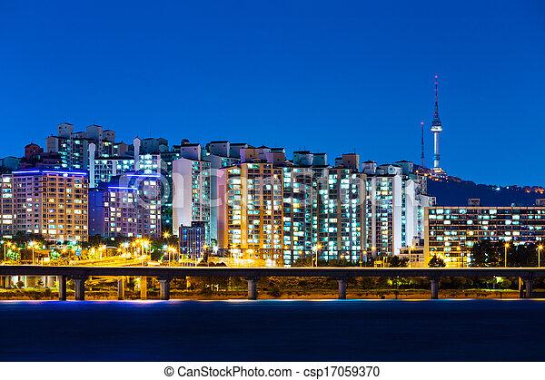 Seoul in South Korea - csp17059370