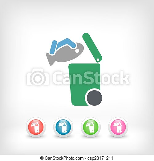Separate waste collection icon - csp23171211