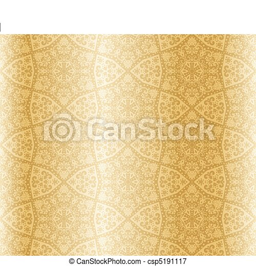 sepia, starshaped, arabesco, seamless - csp5191117
