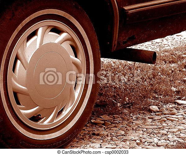 Sepia Toned Wheel - csp0002033
