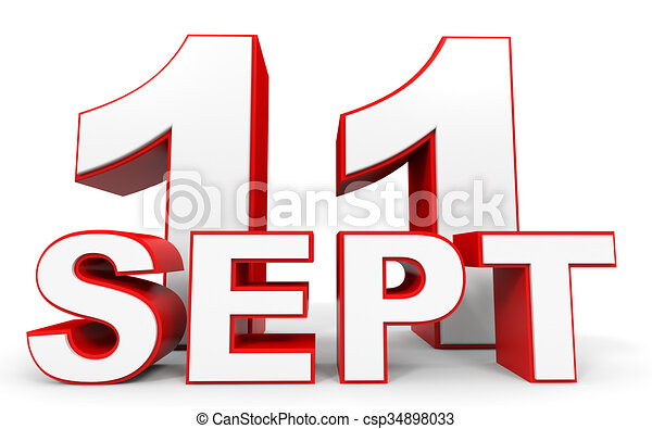 september 11 3d text on white background illustration rh canstockphoto com free september clipart free september clipart