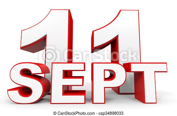 september 11 3d text on white background illustration drawings rh canstockphoto com september clip art free september clip art pictures