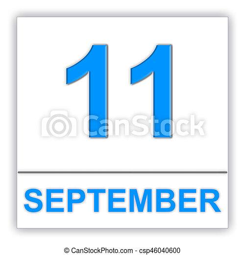 september 11 day on the calendar 3d illustration stock rh canstockphoto com remember september 11 clipart