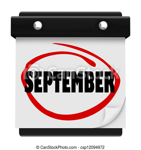 September Word Wall Calendar Change Month Schedule