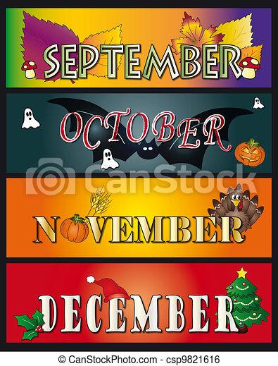septembre, décembre, novembre, octobre - csp9821616