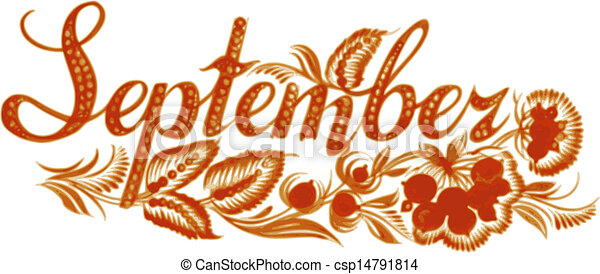 septembre, nom, mois - csp14791814