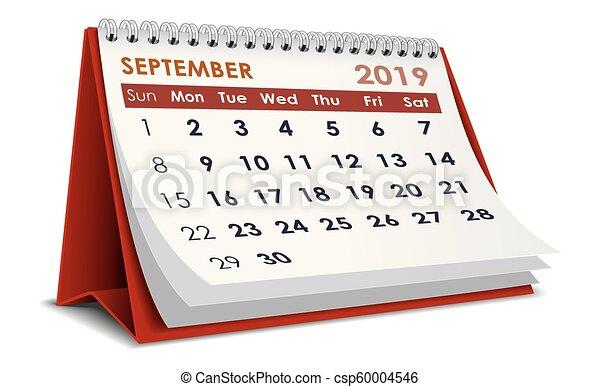 Calendario Dibujo Septiembre.Septiembre Calendario 2019