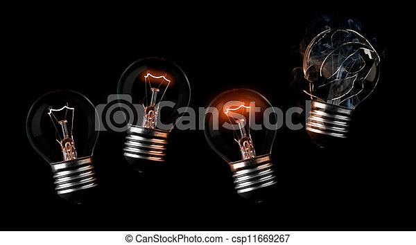 Sequence Of Light Bulbs Ending In A Burn Out