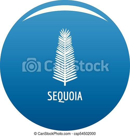sequoia, 青, ベクトル, 葉, アイコン - csp54502000