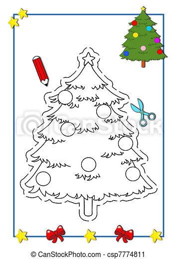 Ser, árbol, color, navidad. Color, ser, niños, navidad,... clipart ...