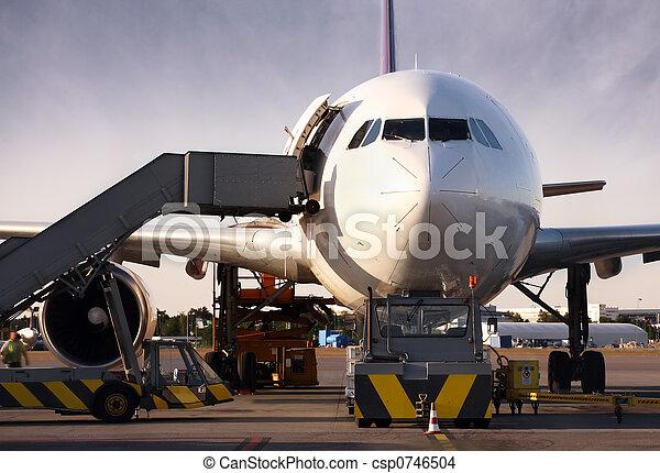 Boeing cargado de carga - csp0746504