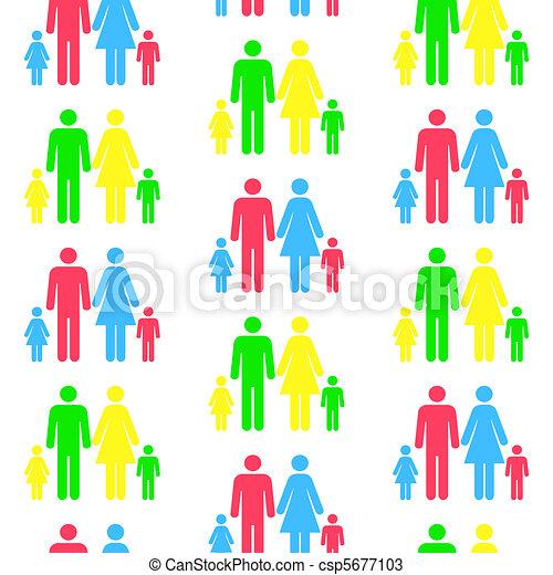 ser, diferente, padrão, seamless, qualquer, escalado, pessoa, repetido, color.(can, silhuetas, size) - csp5677103