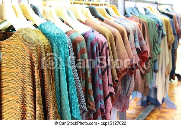 ser, indústria, handiwork, família, garment - csp15127022