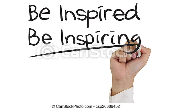 ser, inspirado, inspirar - csp26689452