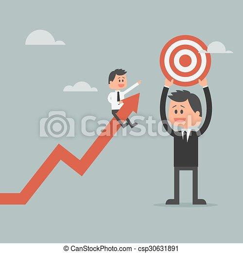 ser, motivación, concepto, meta, empresa / negocio, exitoso, concept.