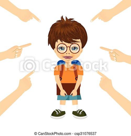 Un adolescente acusado con dedos - csp31076537
