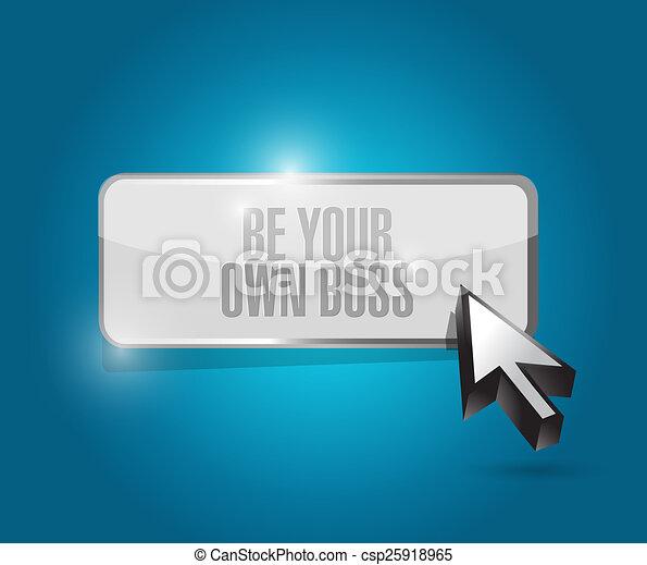 Sé tu propio jefe ilustrador de botones - csp25918965