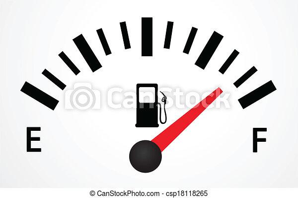 serbatoio carburante, illustrazione - csp18118265