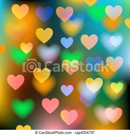 serca, abstrakcyjny, wektor, tło - csp4334797