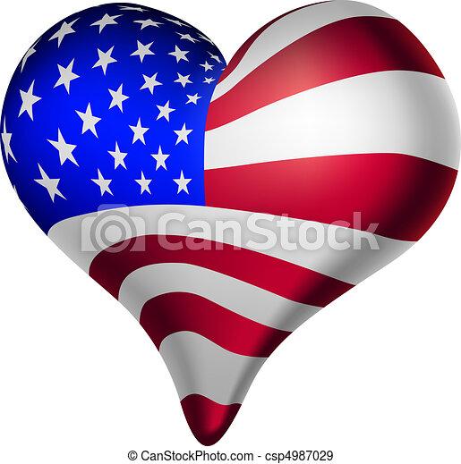 serca, amerykanka, umysły - csp4987029