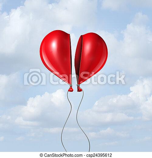 serce, balloon, razem - csp24395612