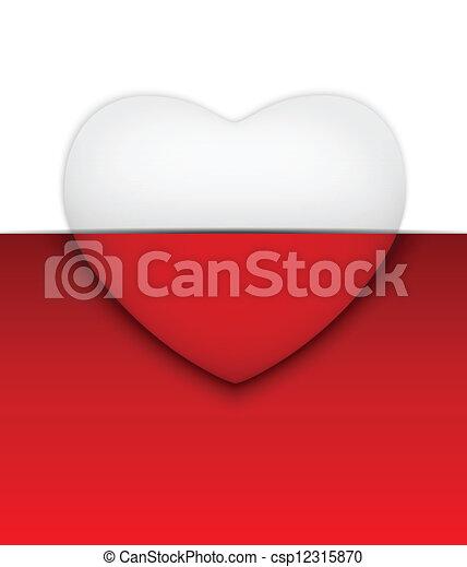 serce, biały, dzień, tło, valentine - csp12315870
