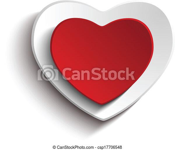 serce, biały, dzień, tło, valentine - csp17706548