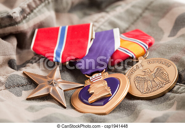 serce, brąz, purpurowy, narodowe odparcie, medals - csp1941448