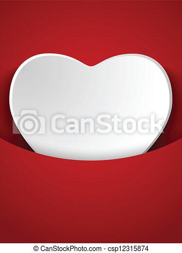 serce, czerwony, dzień, tło, valentine - csp12315874
