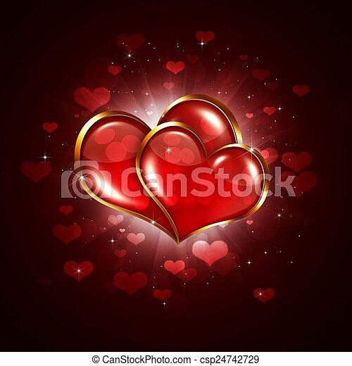 serce, dwa, valentine - csp24742729