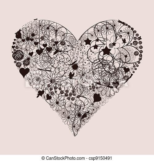 serce, kasownik - csp9150491