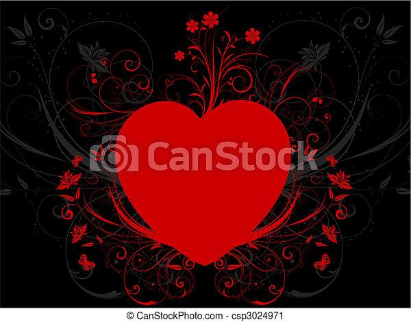 serce, kwiatowy - csp3024971