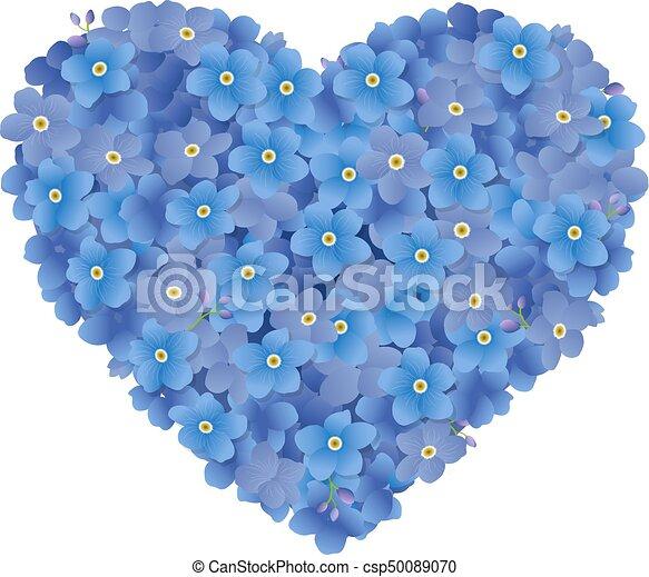 Wektor, serce, kwiaty, ilustracja. | CanStock