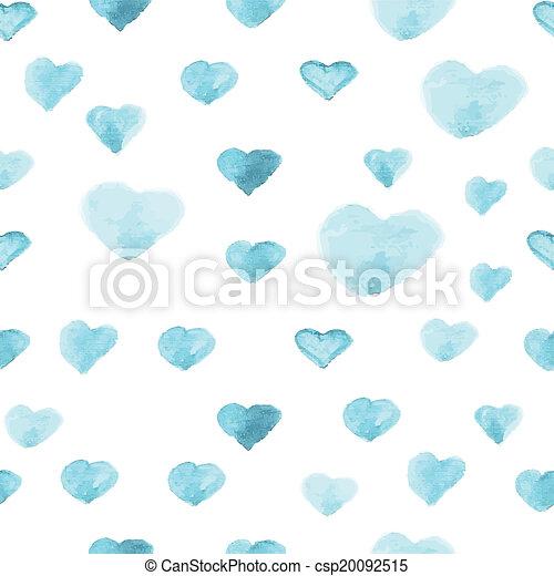 serce modelują, polka, seamless, watercolor farba, kropka - csp20092515