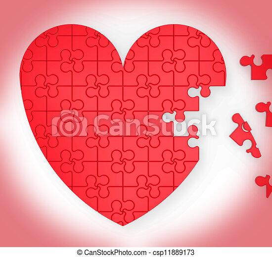 serce, niedokończony, zagadka, małżeństwo, propozycja, widać - csp11889173