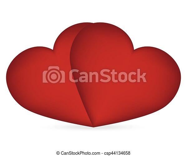 serce, s, dzień, valentine - csp44134658