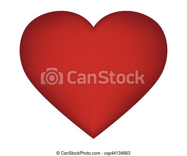 serce, s, dzień, valentine - csp44134663