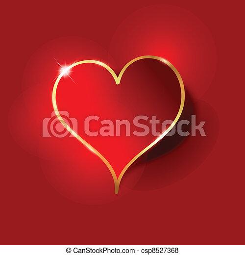 serce, tło - csp8527368