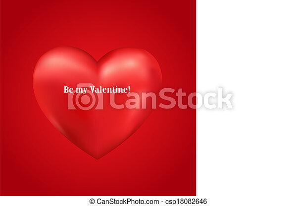 serce, wektor, błyszczący, 3d - csp18082646