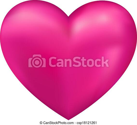 serce, wektor, błyszczący, 3d - csp18121261