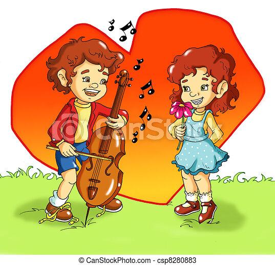 serenata, romanticos - csp8280883