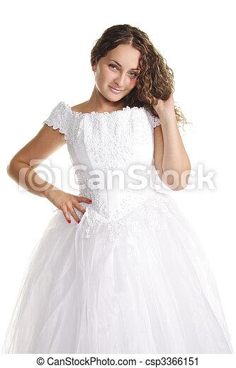 Serene curly bride - csp3366151