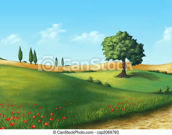Serene landscape - csp2069793